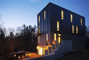 Michael Rank's 3,200-square-foot modern gothic home recently received a Design Award from the Triangle chapter of the American Institute of Architects and is the top winner in the George Matsumoto Prize competition. COURTESY OF RAYMOND GOODMAN