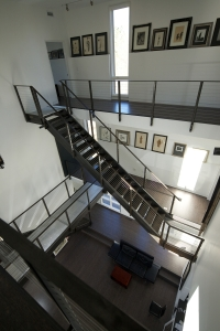 The jury liked stairs as the connecting factor between the house's volumes. Photo by Raymond Goodman