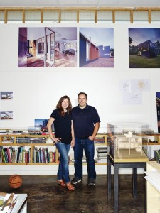 Katherine Hogan and Vincent Petrarca of Tonic Design | Tonic Construction, in their Raleigh, N.C., studio. (Photo by Ian Allen)